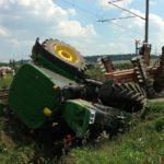 Srážka traktoru s vlakem na Písecku